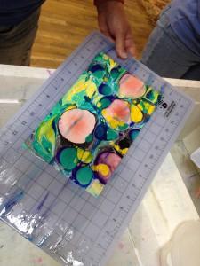 Rinsing the print