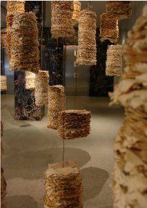 Mental Notes. Suspended Installation. Paper, copper wire.